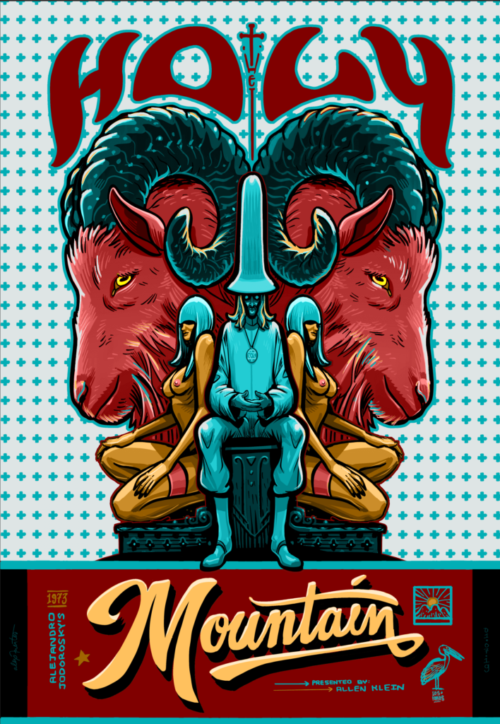 A Holy Mountain poster by Los Fokos